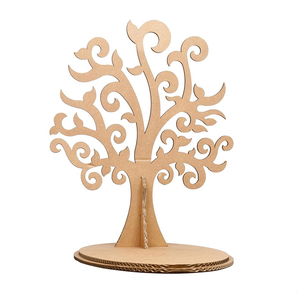 Шаблон дерева из картона своими руками