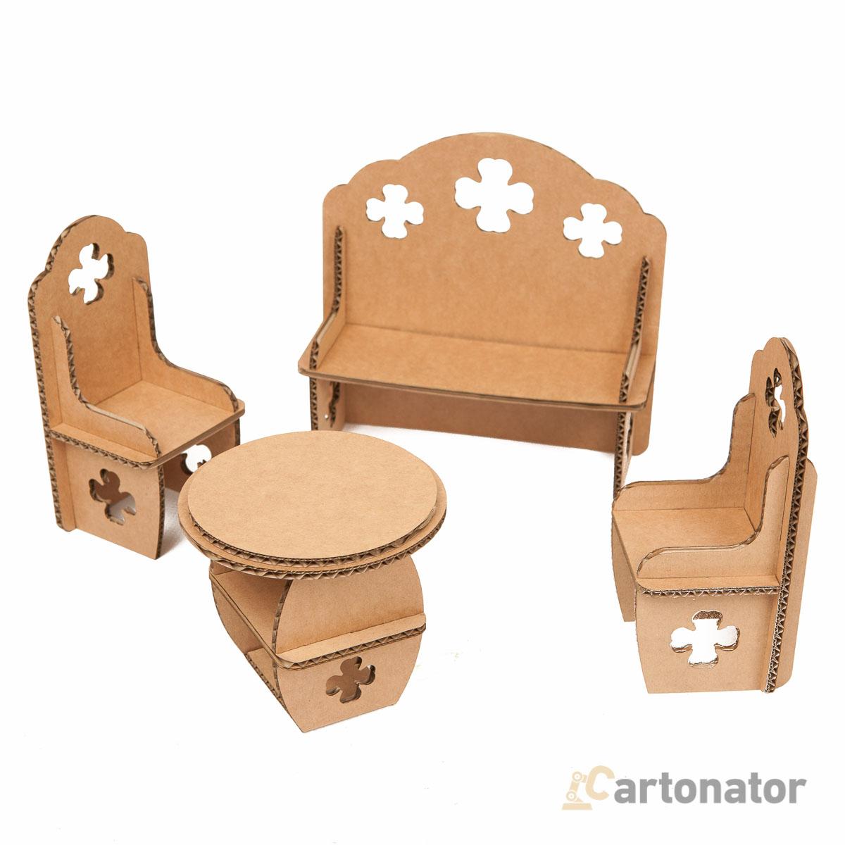 Как сделать для кукол кресло из картона своими руками